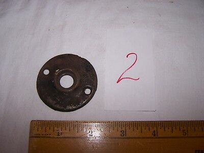 Antique Vintage Cast Iron Door Knob BACK PLATE #2
