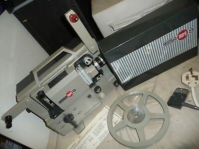 Cine film projector EUMIG MARK 8 8mm & super 8 + cogs + lead & BOX +CD info - VP
