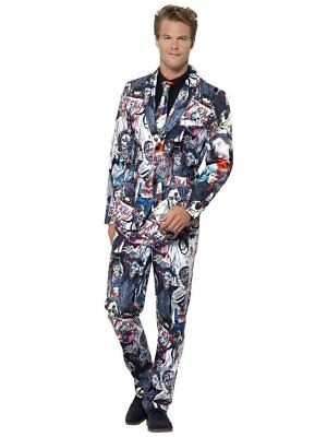 Smiffy's Stand Out Zombie Halloween Suit Adult Mens Jacket Pants Tie MD-XL