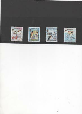 British Antarctic Territory 1997 Christmas issue set of 4 MNH stamps