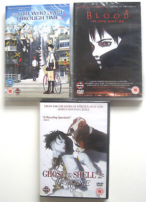 ANIME MANGA DVD Bundle NEW (Ghost In The Shell 2/Blood/Girl Leapt Through Time)