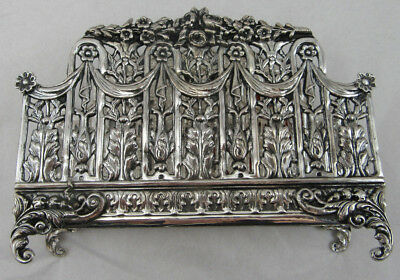 Sterling Silver 925 Napkin Holder VERY UNIQUE Style Lace Concept 146 GRAMS