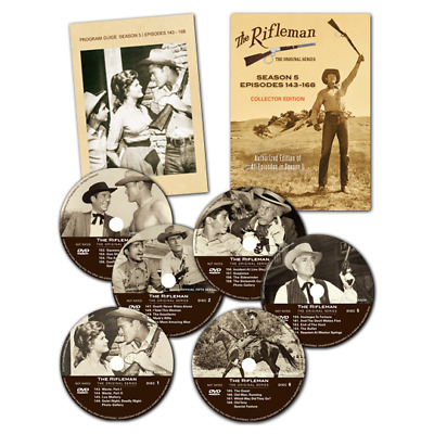 The Rifleman Collector Edition Season 5 (episodes 143-168) DVD Box Set
