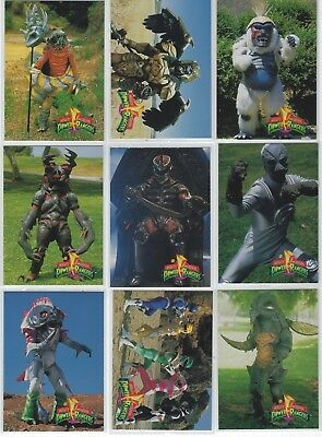 """(39)ct 1994 SABAN """"MIGHTY MORPHIN"""" POWER RANGERS CARD LOT! SEE SCANS! NO DUPES!"""