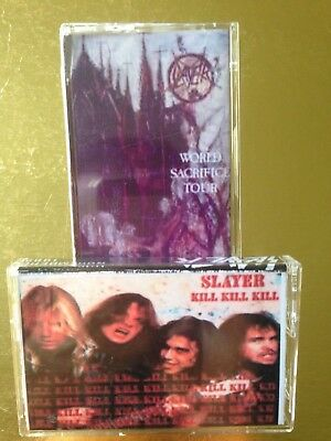 SLAYER World Sacrifice & Kill Kill Kill  CASSETTE TAPE Live X 2 tapes