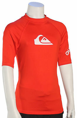 Quiksilver Boy/'s All Time LS Rash Guard New Crystal Teal