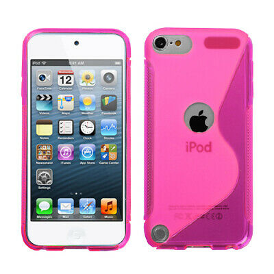 For Apple iPod touch (5th generation) Hot Pink (S Shape) Candy Skin Case Cover