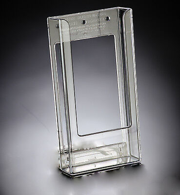 Flatback Brochure Holder - DL Portrait Clear Acrylic