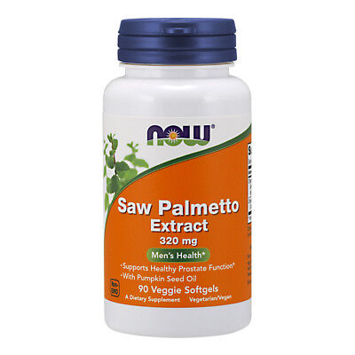 NOW FOODS Saw Palmetto Extract, 320mg - 90 Veg Softgels - Serenoa Repens