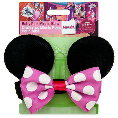 Disney Store PINK MINNIE MOUSE EAR Baby Headband Headpiece BOW Costume Accessory