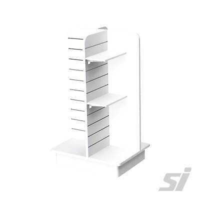 Retail Display Stand Shelf - MDF Shelving for White 4 Way Star Tower