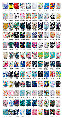 100pcs ALVABABY Cloth Diapers Wholesale Pocket Reusable Nappies Lot With Inserts