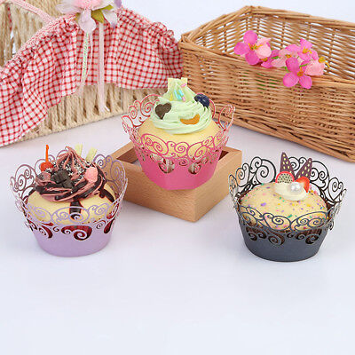 12Pcs Little Vine Lace Liner Cupcake Wrappers Artistic Cake Paper Baking Cups