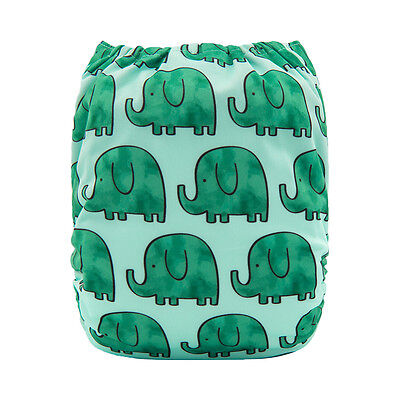 ALVA Baby Cloth Diaper One Size Reusable Washable Pocket Nappy +1Insert For Boys