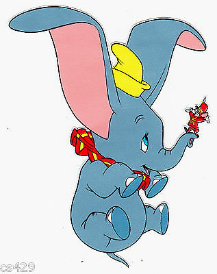 "5"" Disney dumbo elephant peel & stick wall border cut out character"