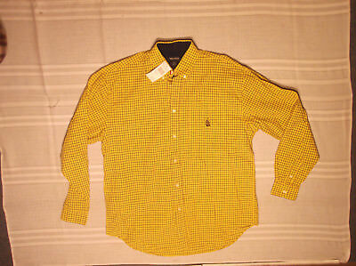 Nautica Boys Shirt Xl (20) Yellow Button-Down Oxford Cotton Twill New Nwt $39
