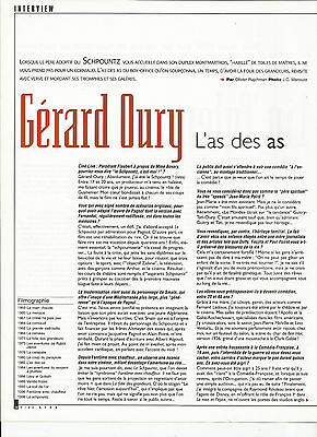 Gerard Oury - Interview / 1999 Article Presse Reportage Magazine