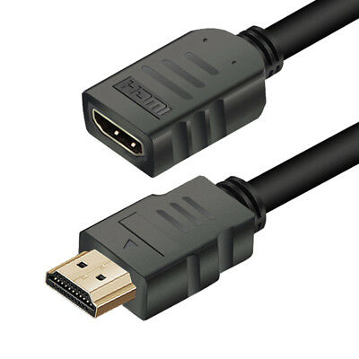 Cable Male to Female HDMI Extender Video Cord For HDTV LCD Laptop PS3 Projector
