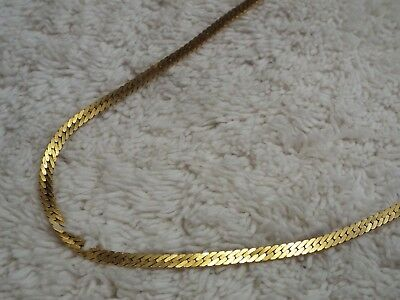 MONET Goldtone Herringbone Chain Necklace (A28)