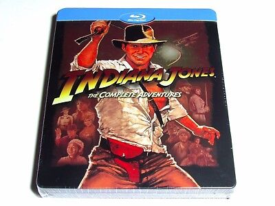 Indiana Jones The Complete Adventures Blu-Ray Steelbook Limited Edtiion New