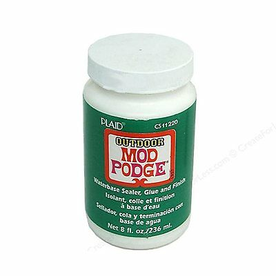 Mod Podge Outdoor Waterbased Glue & Finish 8oz 237ml. Artists Craft Sealant.
