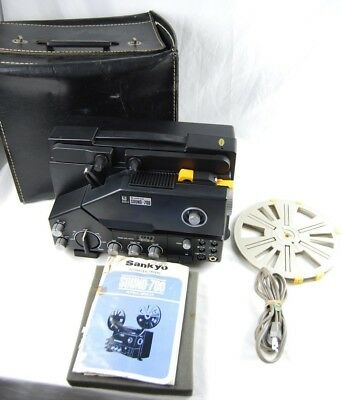 Sankyo Sound 700 8mm Super 8mm Projector With case maual Read Description