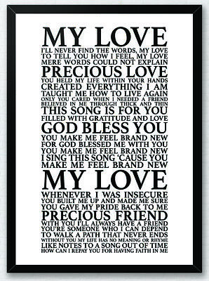 You Make Me Feel Brand New Simply Red Song Lyrics Typography Print Poster Art