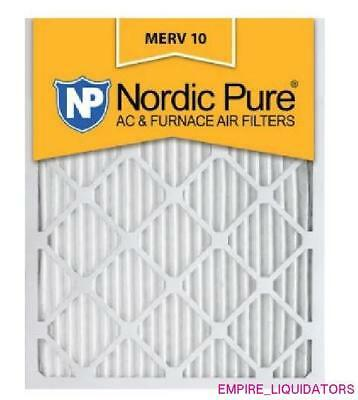 """🔆DEAL - Case of 12 UNUSED Nordic Pure 20"""" x 24"""" x 1"""" Pleated Air Filters 🔆"""