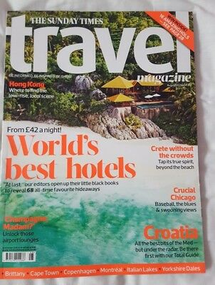 Times Travel magazine. CROATIA. HONG KONG. CRETE. YORKSHIRE DALES. August 2018