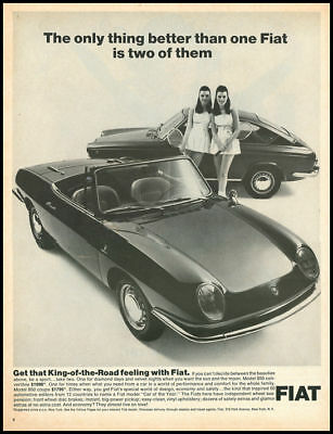 1970 vintage ad for Fiat automobiles