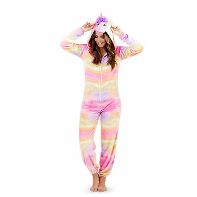 Ladies / Girls all-in-one nightwear pyjamas jump suit  rainbow  Unicorn