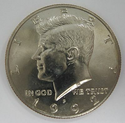 1992-P John F Kennedy Clad Half Dollar Choice BU Condition From Mint Set  DUTCH
