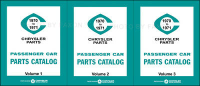 1970 1971 Dodge Plymouth Chrysler Master Parts Book Illustrated Catalog 70 71