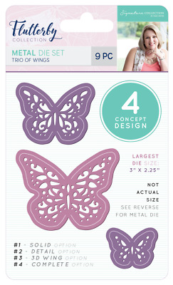 New Sara Davies Flutterby Collection Metal Dies Trio Of Wings