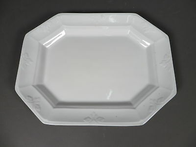 "Antique Pankhurst & Co. Large 17"" White Ironstone Octogon Platter c1880"
