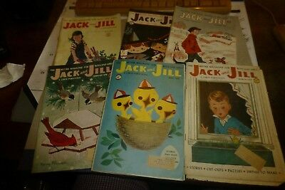Jack and Jill lot of 6 vintage children's magazines 1956-1958