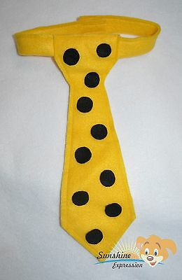 NEW Yellow TIE TODDLER Man in the yellow hat TIES costume accessory Corbatas