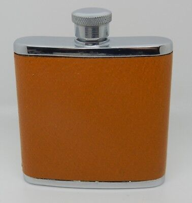 Vintage English Pigskin Leather Clad 2 OZ with Box England