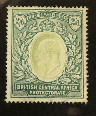 BRITISH CENTRAL AFRICA 65 Beautiful Used 2/6 EDWARD VII OD h898