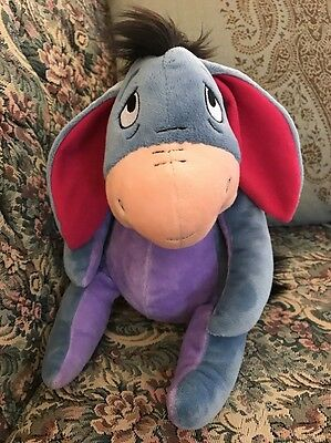"Eeyore Disney Plush Winnie Pooh 13"" Stuffed Animal Lovey Kohls Donkey #E4"