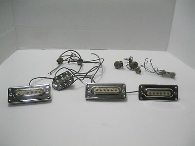 VINTAGE 1960'S ELECTRIC Guitar 3 Pickup Set Wiring Harness ... on electrical harness, alpine stereo harness, safety harness, amp bypass harness, maxi-seal harness, dog harness, pony harness, suspension harness, cable harness, engine harness, oxygen sensor extension harness, obd0 to obd1 conversion harness, radio harness, battery harness, fall protection harness, pet harness, nakamichi harness,