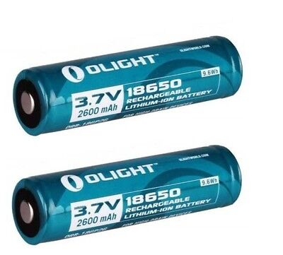 Olight 2600mAh 18650 protected Li-ion rechargeable battery 2 Pack 2xORB-186L26