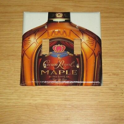 CLASSIC Segrams Crown Royal Whisky Bottle 2 HOLE LIGHT SWITCH COVER PLATE #8