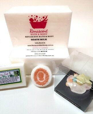 1 kg GOATS MILK Melt and Pour Soap Base + Free Mould & eBook Palm & SLS Free