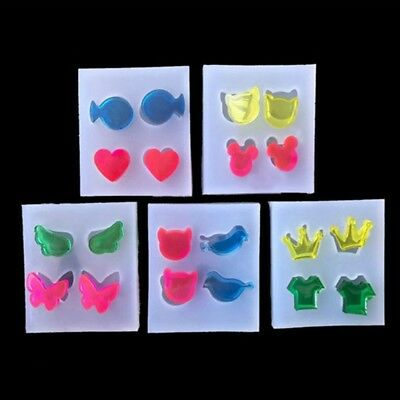 Jewelry Mold Silicone Round Oval Square Shape DIY Stud Earring Epoxy Resin Mold