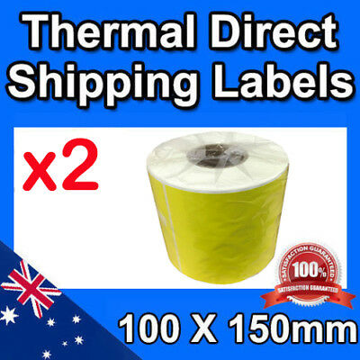 2x Direct Thermal Label Rolls for Fastway Startrack Aus Post eParcel 100x150mm
