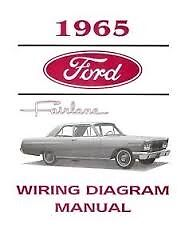 1965 Ford Fairlane Wiring Diagrams Schematics Manual Nice New