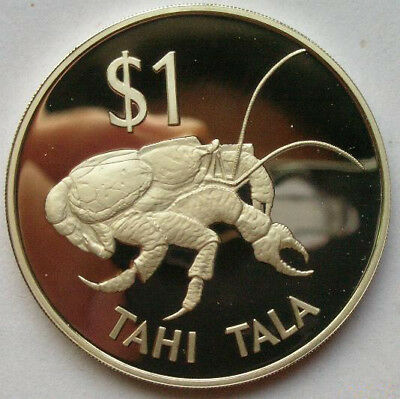 Tokelau 1980 Coconut Crab Tala Silver Coin,Proof