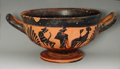Large Greek Attic Black-Figure Kylix (L982)