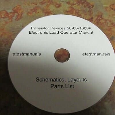 Transistor Device 50-60-1000 Electronic Load Operation Manual, Schematics